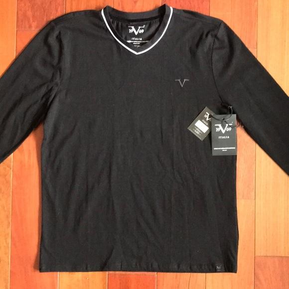 ba7eafcf 💯Versace Italia Men's V Shirt Long Sleeve /M/NWT Boutique